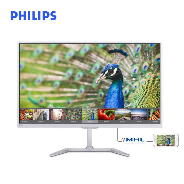 【開箱整新品】PHILIPS飛利浦 27型 276E7QDSW (白)(寬)螢幕顯示器