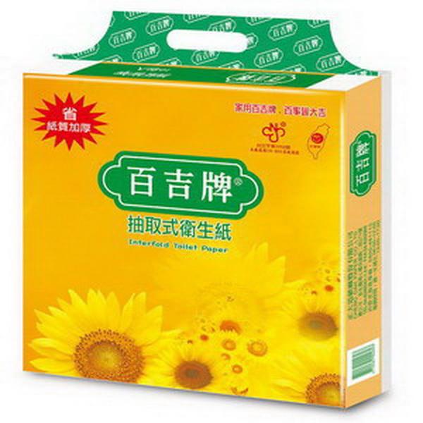 【百吉牌】抽取式衛生紙100抽*80包