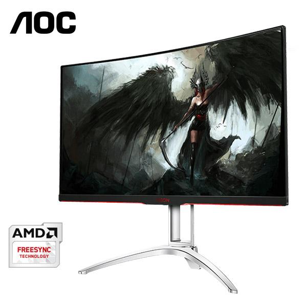 【福利品】AOC艾德蒙 32型 AGON AG322QCX9 (黑/紅)(寬)螢幕顯示器
